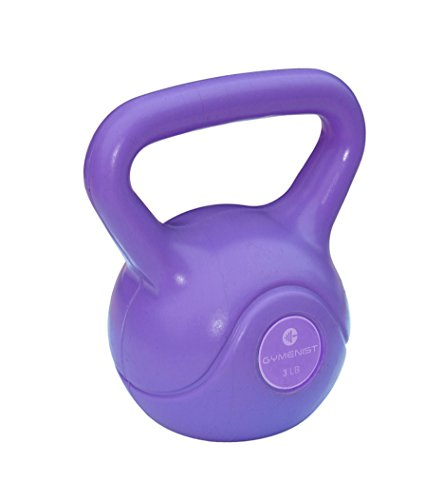 Gymenist Exercise Kettlebell Fitness Workout Body Equipment Choose Your Weight Size (3 LB)