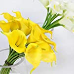 Luyue-Calla-Lily-Bridal-Wedding-Bouquet-Head-Lataex-Real-Touch-Flower-Bouquets-Pack-of-20-Yellow