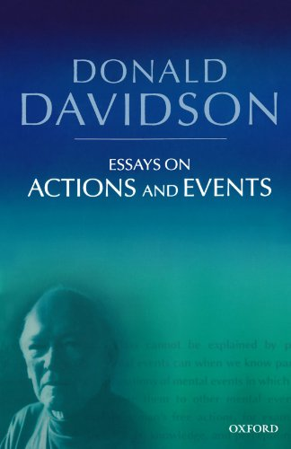davidson essays actions events Donald davidson causal relations in essays on actions and events oxford from phil 24221 at massachusetts institute of technology.