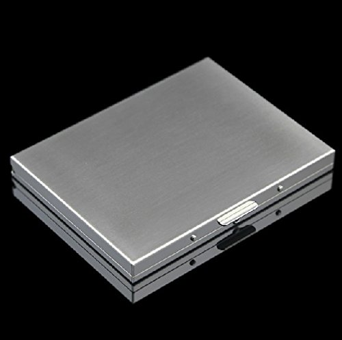 Honb Slim Cool Metal Crush Proof Chrome Cigarette Case (Hold King Size and 100mm)
