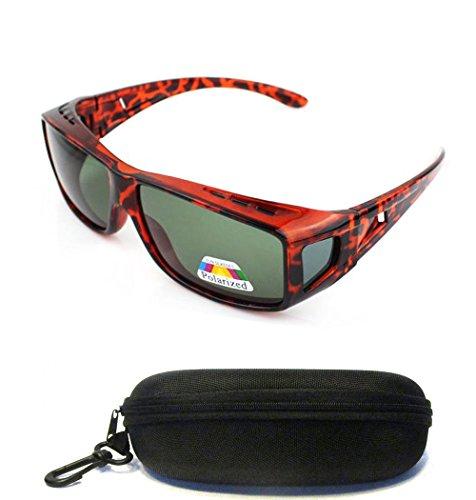 (#CH150 Tort) Polarized Lenses Fit Over Wear Over Sunglasses for Men Women Unisex Prescription Glasses UV400 For Nearsighted Short Sighted - Sunglasses Nearsighted
