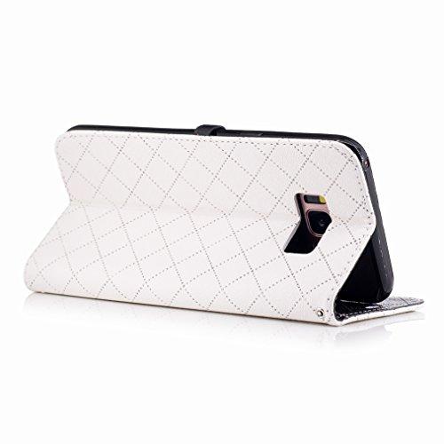 Carcasa Amar blanco S8 Samsung Cuero Cover Cáscara Billetera Funda Diseño Plus Para Galaxy Estuches Protector Ranura Estilo Piel Pu Tarjetas S8 Yiizy xzt1nAYY