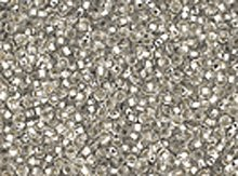 10/0 Czech Seed Bead Hank - Seed Beads 10/0 Czech Silver Lined Silver (one hank pack)