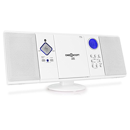 oneConcept V-12-BT – stereosysteem, compact systeem, microsysteem, Bluetooth-interface, mp3-compatibele cd-speler, USB…