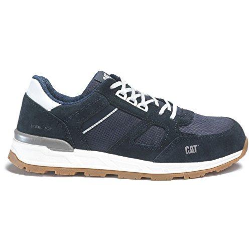 (Caterpillar Woodward Steel Toe Work Shoe Men 9.5 Blue Nights)