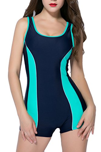 Girls One Piece Bathing Suit (BeautyIn swimsuits for women bathing suits one piece swimsuit ladies swimwear , Mint Green , Size 12 / Tag 46)