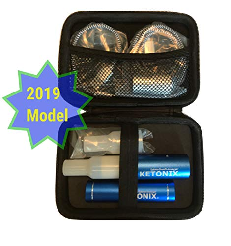 2019 Edition KETONIX Bluetooth Faster Response - Battery Pack Included. Reusable Breath Ketone Acetone Breath Level Analyser. Perfect Solution for Anyone adopting a Keto, Paleo or Low Carb Lifestyle.