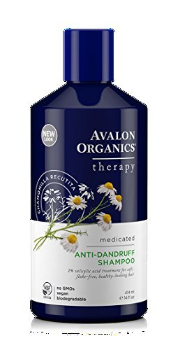 (Avalon Organics Therapeutic Hair Care Medicated Anti-Dandruff Shampoo 14 fl. oz. Shampoos (a) - 2pc)