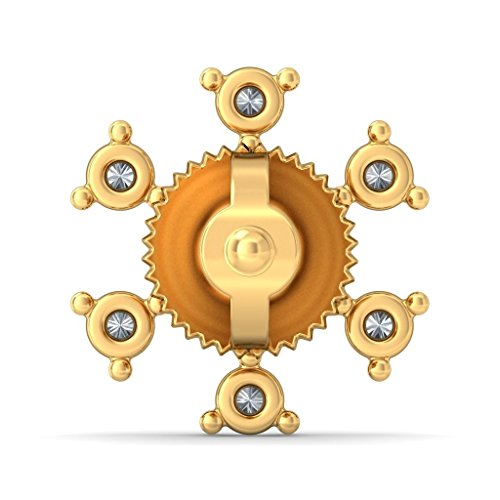 Or jaune 14K 0.25CT TW White-diamond (IJ | SI) Boucles d'oreille à tige