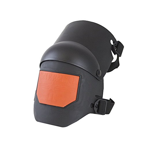 KP Industries Knee Pro Ultra Flex III Gel Knee Pads - Tactical Paintball Airsoft Work Professional - Tough built - Black and Orange