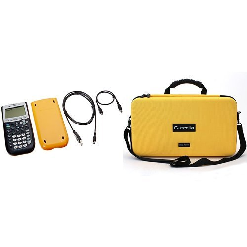 TI 84 Plus School Pack Of 10 Graphing Calculators With Guerrilla Essential Protective Carry Case (Yellow) by Texas Instruments