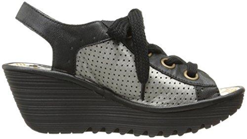 FLY London Women's Yuta617fly Platform Sandal, Black/Lead Mousse/Borgogna, 40 EU/9-9.5 M US by FLY London (Image #7)