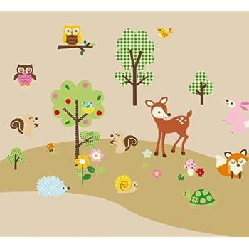 Amazon.com: Forest Animals Baby/Nursery Wall Sticker Decals for Boys ...