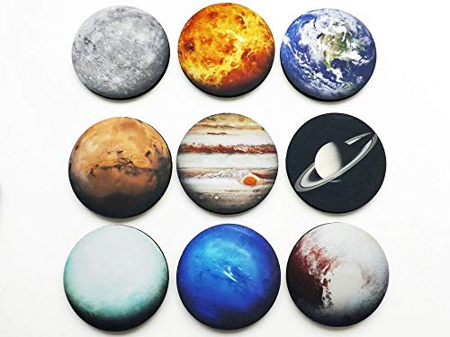 (Solar System Coaster Gift Set of 9 coasters planets space science nerd home decor teacher)