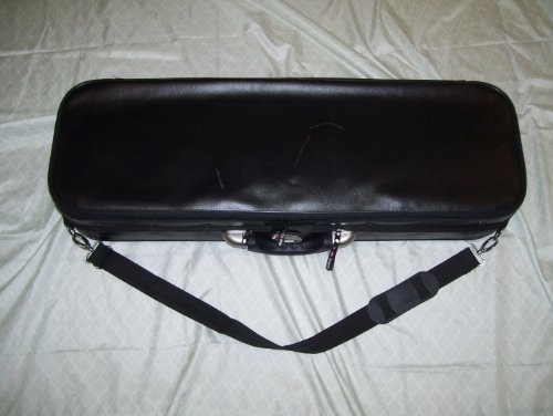 New violin hard case, arched top, Synthetic leather by Maestro