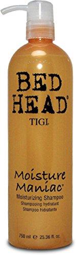 Bed Head Moisture - TIGI Bed Head Moisture Maniac Moisturizing Shampoo, 25.36 Ounce (Pack of 2)
