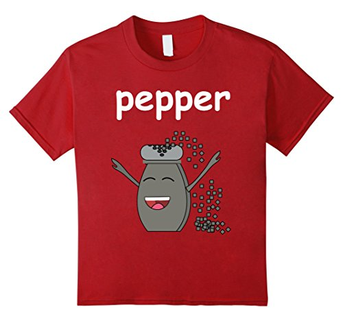 Kids salt and PEPPER Shirt Best Friend Matching Couples Halloween 12 Cranberry