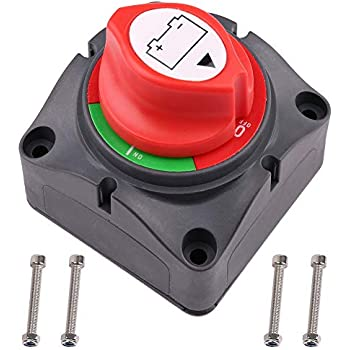 GULUBO 12V//48V Battery Disconnect Switches Isolator Cut OFF Power 4 Position Selector Disconnect Kill Switch for Car Vehicle RV Battery Boat Caravan Marine