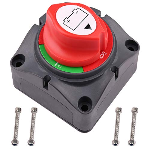 Battery Switch, 6V 12V 24V 48V 60V Battery Disconnect Master Cutoff Switch for Marine Boat RV ATV UTV Vehicles, Waterproof Heavy Duty Battery Isolator Switch, 275/1250 Amps, On Off Position