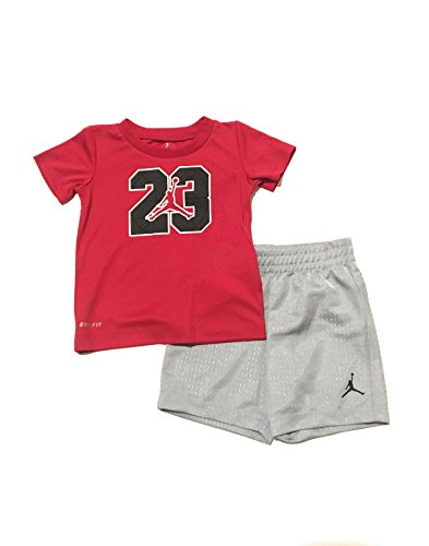Jordan Jumpman Infant Boys T-Shirt and Shorts Set Red/Wolf Grey Size 24 Months by  Jordan