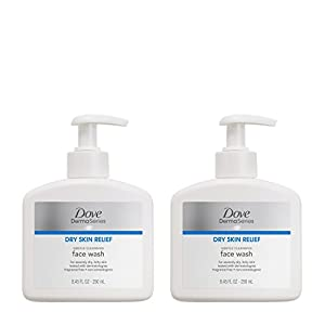Dove DermaSeries Fragrance-Free Face Wash, for Dry Skin 8.45 oz, 2 ct