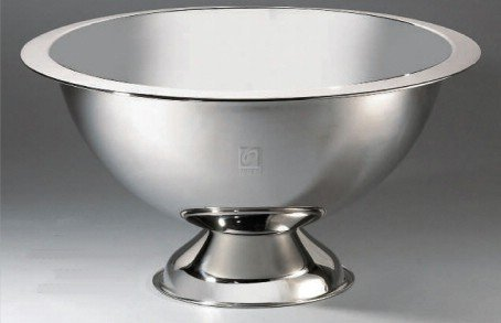 Elegance 72621 Stainless Steel Punch Bowl, Silver