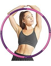 SPEEDSPORTING Hula Hoop Däck, Fitness Rockring 8 segment Avtagbar hoop-hoop 1,8 kg för vuxna och barn för fitness/träning/kontor eller magmuskelkonturer