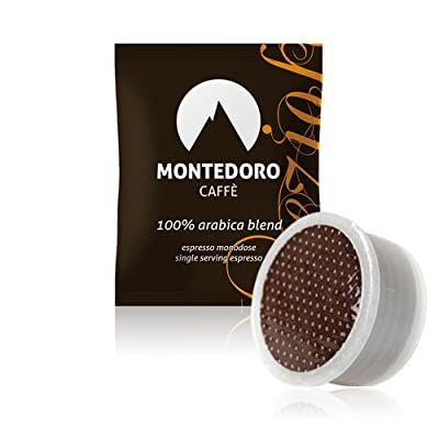 MonteDoro Prezioso - 100 Espresso Capsule Compatible with Lavazza Point Matinee - 100% Pure Arabica coffee