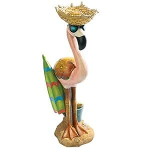Design Toscano Luau Larry the Flamingo Pink Flamingo Garden Statue, Multicolored