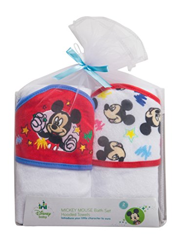 Disney Mickey Mouse 2 Piece Hooded Towel Gift set