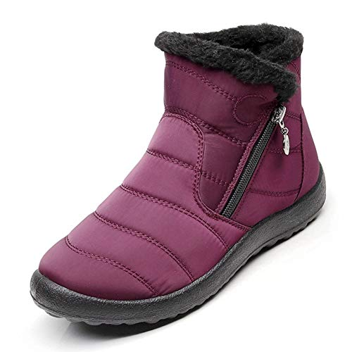 gules Ladies Winter Cotton Ykfchdx Warm two Side Zipper Snow Autumn Waterproof forty Keep Boots wqWHpR