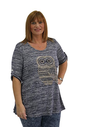 Girl Talk Clothing Plus Size Owl Embellished 3/4 Sleeve - Top Missguided