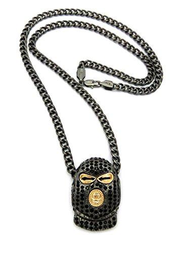 Hematite Pendant Cuban Necklace XSP159BG HECC product image