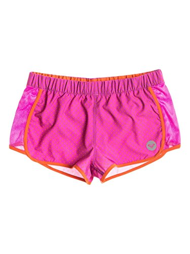 Roxy Juniors 2 Line Up Short, Orange Dot Dot Dot, Large