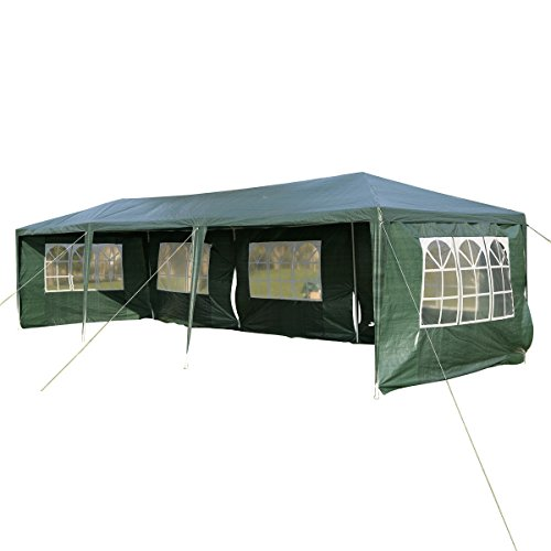 Tangkula 10'x30' Outdoor Party BBQ Tent Outdoor Canopy Green by Tangkula