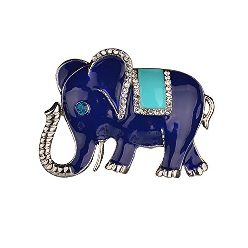 MIXIA Exquisite Silver Colors Elephant Brooch Pins Rhinestone Brooches for Women Jewelry Fashion Suit Accessories