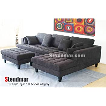 main left images sofa gray image dorado cantrall dark medium w furniture el chaise with of