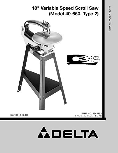 Delta Scroll Saw (Delta 40-650 18