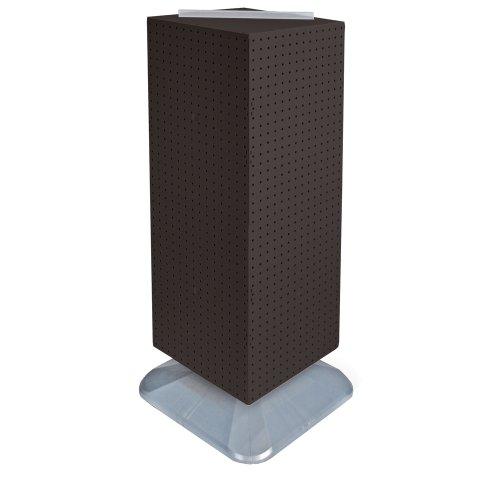 Azar Displays 701435-BLK Standard Four-Sided Interlocking Pegboard Floor Display, Black Solid by Azar Displays