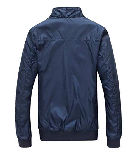 Collo Uomini Autunno Blu Di Basamento Oversize Trench Beeatree Casuale Cappotto Giacca wwqTH8xU