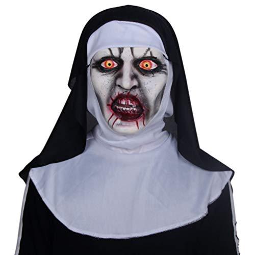 Novelty Creepy Scary Horror Halloween Cosplay Party Costume Latex Head Nuns Deadpool Mask