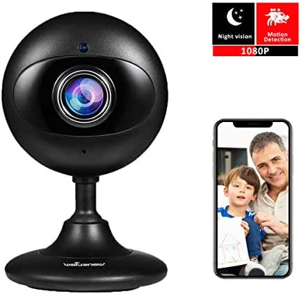 Wansview New Version Home Security IP Camera,1080P Wireless WiFi Indoor Camera for Baby/Elder/Pet/Nanny with Motion Detection and Two-Way Audio, with SD Card Slot (Black)
