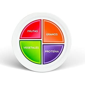 Amazon Choose Myplate 10 Inch Plate For Adults Teens Spanish
