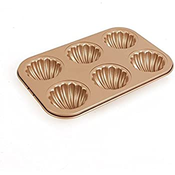 Amazon Com Make Way For Madeleines 12 Cup Scallop Shaped