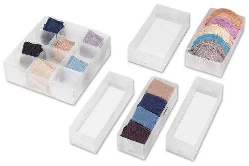 Whitmor Drawer Organizers Set of 6 (6 Organizer Drawer Set Of)