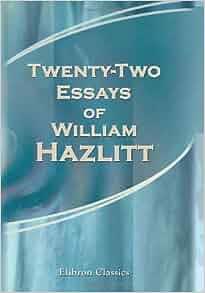 hazlitt william essays