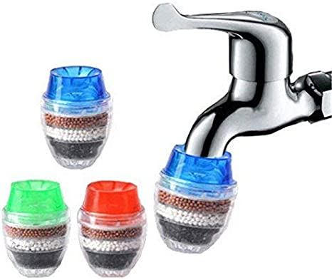 Amazon Com Ijia Faucet Water Cleansing Coconut Carbon Home Kitchen Faucet Tap Water Cleaner Cartridge 16 19mm Random Color Pack Of 3 Home Kitchen