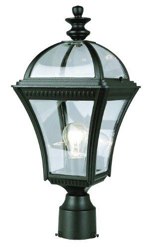 "Trans Globe Lighting 5085 BK Outdoor Washington 19.5"" Postmount Lantern, Black"