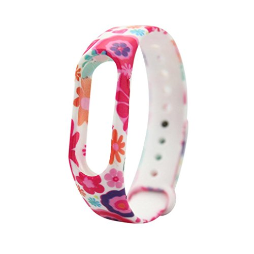 Price comparison product image Dreamyth Replacement Silica Gel Wristband Band Strap for Xiao Mi Band 2 Bracelet (P)