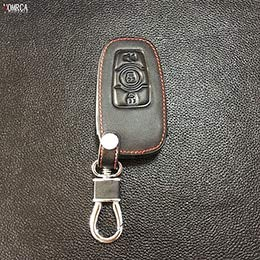 Gold Accord (Gold Happy Leather Car Key Fob Cover Case Key Wallet Chain Protect Shell)